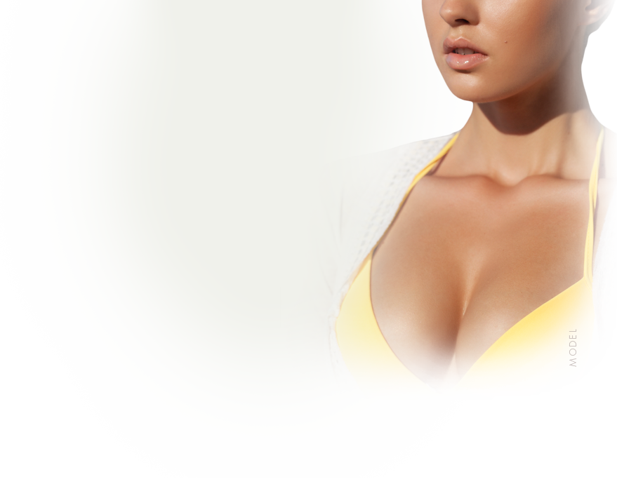 model breast implant size