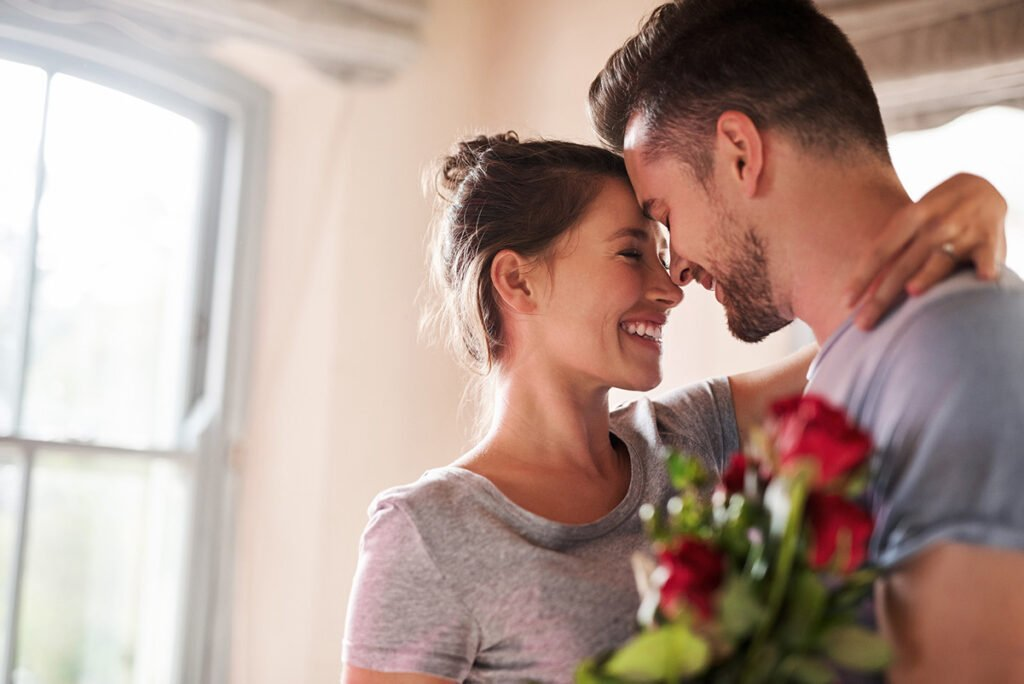 Man and Woman Enjoy their At-Home Valentine's Day 2021 in Little Rock